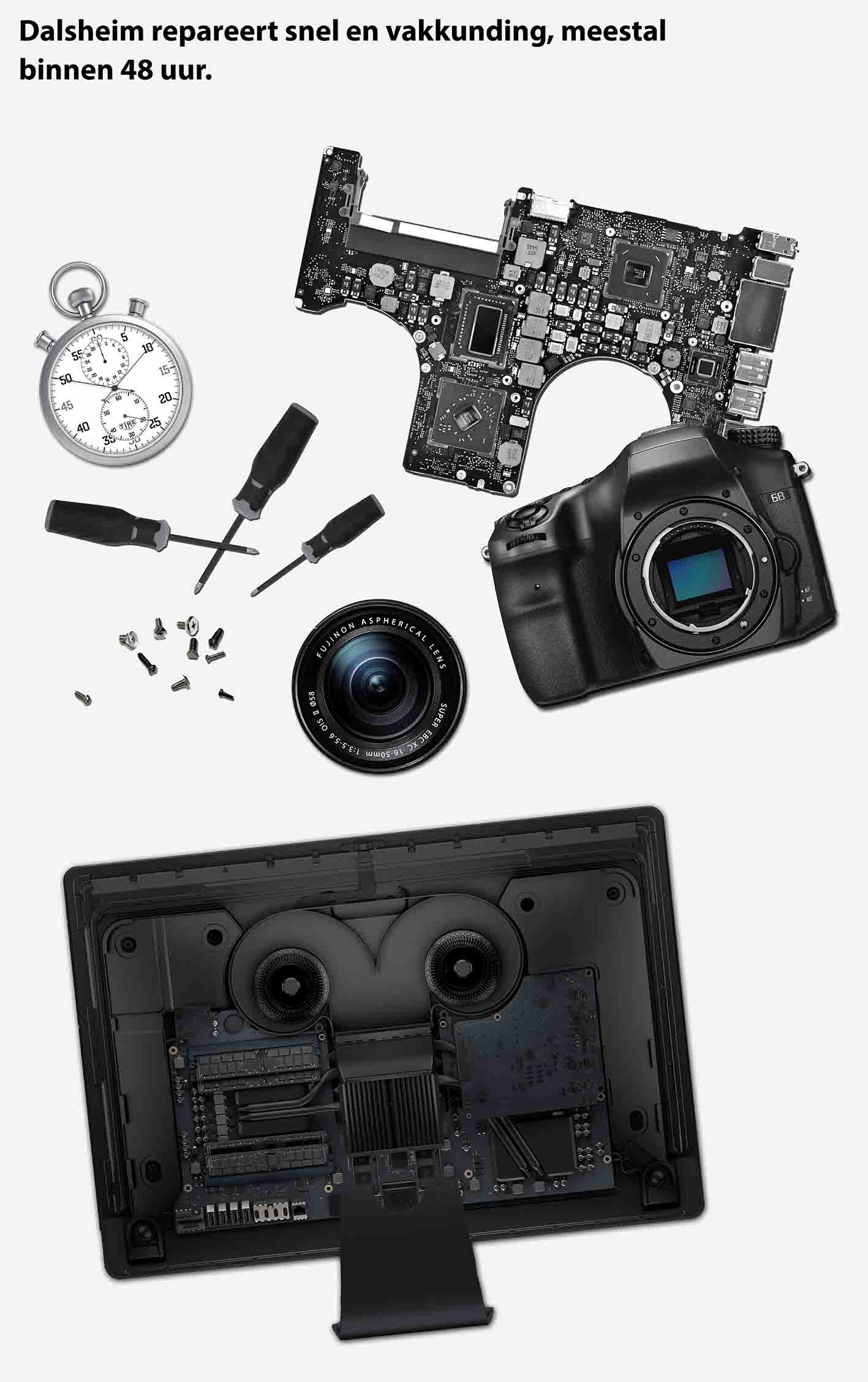 reparaties van foto camera's apple computers imac